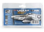 AK Interactive 17ml & 35ml 02210 WW2  USAAF Air Force Colours 2 - Acrylic Paint Set