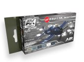 AK Interactive 17ml x6 02230 US Navy & USMC Aircraft Arcylic Paint Set