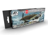 AK Interactive 17ml x8 02260 WW2  IJAAF Air Force Colours - Acrylic Paint Set