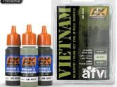 AK Interactive 3 x 17ml 04010 Vietnam Colours Set