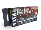 AK Interactive 17ml x6 05030 Royal Navy Camouflage 1 - Acrylic Paint Set