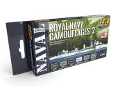 AK Interactive 17ml x6 05040 Royal Navy Camouflage 2 - Acrylic Paint Set