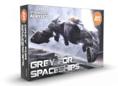AK Interactive 17ml x6 11614 Grey For Spaceships - 3G Acrylic Paint Set