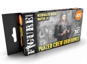 AK Interactive 17ml x6 11622 Panzer Crew Black Uniforms - 3G Acrylic Paint Set
