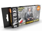 AK Interactive 17ml x6 11627 German Field Grey Uniforms - 3G Acrylic Paint Set