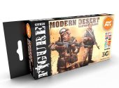 AK Interactive 17ml x6 11630 Modern Desert Uniforms - 3G Acrylic Paint Set
