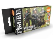 AK Interactive 17ml x6 11632 Woodland & Flecktarn Camo - 3G Acrylic Paint Set