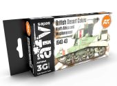 AK Interactive 17ml x6 11646 British Desert Colours 1940-43 - 3G Acrylic Paint Set