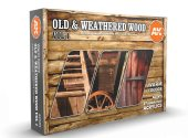 AK Interactive 17ml x6 11673 Old & Weathered Wood Vol 1 - 3G Acrylic Paint Set