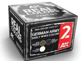 AK Interactive 10ml x3 RCS002 Real Colors Lacquer Paint Set - German Army Early WWII