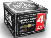 AK Interactive 10ml x3 RCS004 Real Colors Lacquer Paint Set - German Army 1943-45