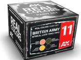 AK Interactive 10ml x4 RCS011 Real Colors Lacquer Paint Set - British Army Africa Late 1942-43