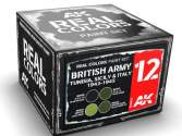 AK Interactive 10ml x4 RCS012 Real Colors Lacquer Paint Set - British Army Tunisia, Sicily, Italy 1942-43