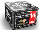 AK Interactive 10ml x4 RCS014 Real Colors Lacquer Paint Set - US Army Disruptive Camo