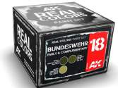 AK Interactive 10ml x3 RCS018 Real Colors Lacquer Paint Set - Bundeswehr Early