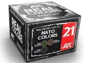 AK Interactive 10ml x3 RCS021 Real Colors Lacquer Paint Set - NATO Colours
