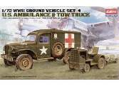 Academy 1/72 13403 WWII US Ambulance & Towing Tractor