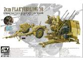 AFV Club 1/35 35149 2cm Flakvierling 38 German 2cm FlaK AA Gun with Tow Trailer