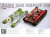 AFV Club 1/35 35S51 T-34/76 1942 Factory 112 w/ transparent turret (LIMITED)