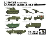AFV Club 1/350 73516 USA WWII Landing Vehicle Set