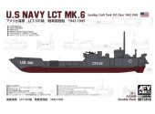 AFV Club 1/350 SE73518 US Navy LCT Mk.6 Landing Craft Tank 501 Class 1943-1945