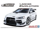Aoshima 1/24 05897 C-West CZ4A Lancer Evolution X '07 (Mitsubishi)