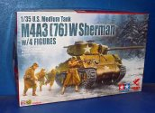 Asuka 1/35 35048 U.S M4A3 (76) W Sherman with Figures