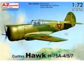 AZ Models 1/72 7644 Curtiss H-75A-4/5/7 Hawk Dutch & Finnish new fuselage frame added