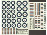 "Colorado Decals 1/48 4865 World War Two RAF Type A -16""  - 40"" - 42"" - 45"" - 50"""
