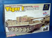 Dragon 1/35 6947 Tiger I Normandy 1944 w/ Zimmerit and Tiger Aces Figures