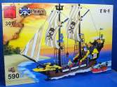 Enlighten - 307 Pirate Ship w/Figures - 590pcs - Compatible Blocks