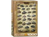 Eurographics - 60000388 1000 Piece Jigsaw Puzzle - World War II Tanks