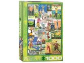 Eurographics - 60000933 1000 Piece Jigsaw Puzzle - Golf Vintage Collage