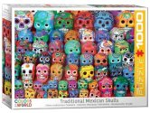 Eurographics - 60005316 1000 Piece Jigsaw Puzzle - Traditional Mexican Skulls