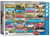 Eurographics - 60005422 1000 Piece Jigsaw Puzzle - VW Beetle Gone Places
