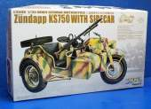 Great Wall Hobby 1/35 L3508 WWII German Zundapp KS750 with Sidecar