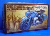 Great Wall Hobby 1/35 L3524 WWII German Zundapp KS750 /w Feldgendarmerie 1942