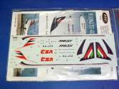 HAD Decals 1/144 144004 Boeing 737 400 MALÉV Charter Service + CSA