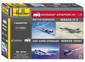 Heller 1/72 52320 100 Years of Dassault Aviation - Ouragan, Mirage III, Super Etendard, Mirage 2000C