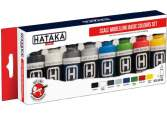 Hataka 8 x 17ml AS100 Acrylic Paint Set - Scale Modelling Basic Colours set