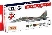 Hataka 6 x 17ml AS105 Acrylic Paint Set - MiG-29A/UB Fulcrum-A/B 4-colour scheme