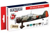 Hataka 6x 17ml AS107 Acrylic Paint Set - WW2 Dutch AF vol. 1