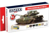 Hataka 6 x 17ml AS112 Acrylic Paint Set - Modern Ukrainian Army AFV
