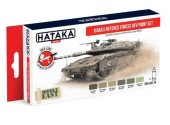 Hataka 6 x 17ml AS114 Acrylic Paint Set - Israeli Defence Forces AFV