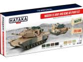 Hataka 8 x 17ml AS67 Acrylic Paint Set - Modern US Army and USMC AFV