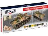 Hataka 8 x 17ml AS69 Acrylic Paint Set - WWII Imperial Japanese Army AFV