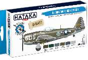 Hataka 6 x 17ml BS04-2 Acrylic Paint Set - US Army Air Force (for hand brushing)