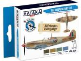 Hataka 4 x 17ml BS08 Acrylic Paint Set - RAF in Africa (for hand brushing)