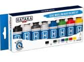 Hataka 8 x 17ml BS100 Acrylic Paint Set - BS100 Scale Modelling Basic Colours set (for hand brushing)