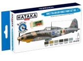 Hataka 6 x 17ml BS103 Acrylic Paint Set - WW2 Italian Air Force vol. 1 (for hand brushing)